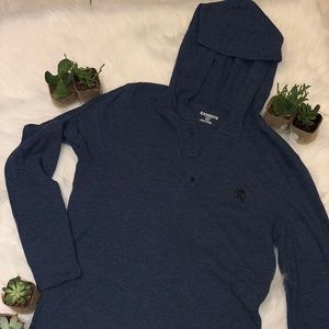 Long sleeve hooded Express Man size S navy blue
